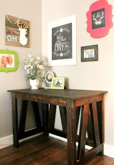 DIY Desk from 2x4s! Really easy to follow plans, even for a beginner!