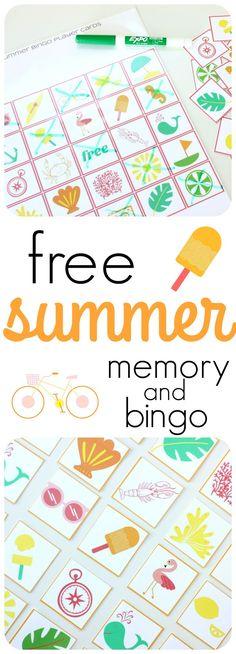 Summer Bingo - Free Printable | Free printable, Boredom busters and ...