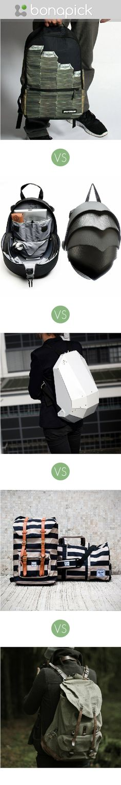 """Click here to vote on """"I want an unusual backpack, which of these is the coolest?"""" at Bonapick.com"""