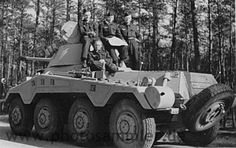 The Sd.Kfz. 234 (Sonderkraftfahrzeug 234, or Special Purpose Vehicle 234), was a family of 8x8 armoured cars designed and built in Germany during World War II. The vehicles were lightly armoured, armed with a 20, 50 or 75 mm main gun, and powered by a Tatra V12 diesel engine.