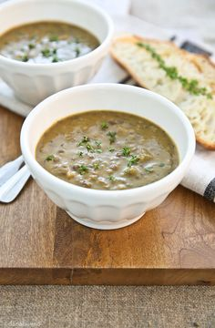 French Lentil Soup with Parsnip & Apple