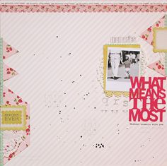 Layout by Lilith Eeckels using Pretty Paper by crate Paper