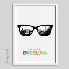 Barcelona Print Instant Download Poster Printable Poster