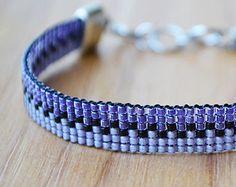 Friendship Bracelet // Adjustable // Ombre Purple Bracelet // Loom