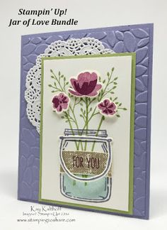 Do you remember the old fashioned mason jars with the wire bail attached to them? I do!! In fact, my grandma had tons of them and I even have one in my craft room to hold buttons! This stamp set with