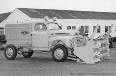 #TBT   The first snowblowers that were referred to as rotary plows were developed for use by the railroads.   The SNOGO shown here mounted on a postwar Ford Truck chassis with a Marmon-Herrington four-wheel drive conversion was a further development of this concept.     @TheOldMotor Photo: #TheOldMotor