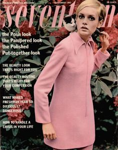 velvetoverground:Twiggy on the cover of Seventeen magazine, September 1967.