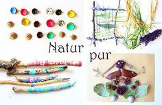 basteln-mit-naturmaterialien- herbst eichel stöcke mit kindern kindergarten