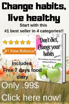 Don't diet, change your habits is a no fluff weight loss book that focuses on changing lifestyle and eating habits to attain maximum health. Best Weight Loss Program, Best Weight Loss Plan, Diet Plans To Lose Weight, Weight Loss Goals, Healthy Weight Loss, How To Lose Weight Fast, Easy Diet Plan, Start Losing Weight, Easy Diets