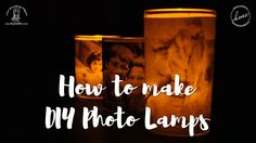 How to make Photo Lamps at home [DIY Photo Luminaries Tutorial] - YouTube