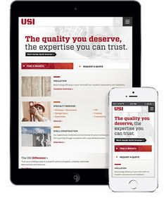 Responsive Web Design by Windmill Design for USI