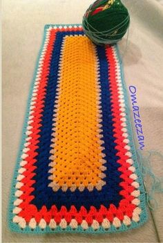 Picasa Web Albums - crochet rectangular granny stitch table runner