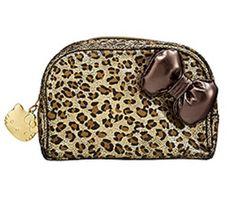 Hello kitty leopard makeup bag