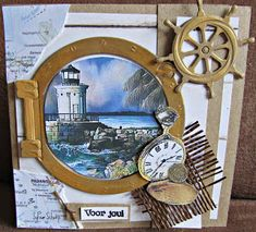 Personalized Greeting Cards, Greeting Cards Handmade, Scrapbooking, Scrapbook Cards, Pinterest Cards, Marianne Design Cards, Nautical Cards, Cool Cards, Men's Cards