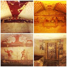 Tombe etrusche dipinte @ Necropoli di Monterozzi - Tarquinia Painting, Art, Italia, Art Background, Painting Art, Paintings, Kunst, Drawings, Art Education