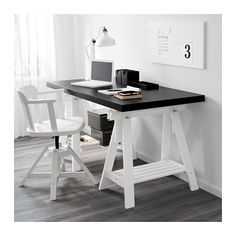 "TORNLIDEN / FINNVARD Table - black-brown/white, 59x29 1/2 "" - IKEA"