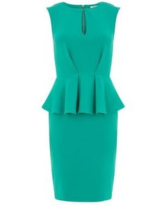 Peplum dresses for bridesmaid. Something like this but more blue with sleeves and a belt :) @Lauren-Ashley Sims