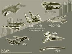 Nash Hood Ornaments 1946-56