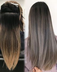 Long Wavy Ash-Brown Balayage - 20 Light Brown Hair Color Ideas for Your New Look - The Trending Hairstyle Ombre Hair Long Bob, Brown Ombre Hair, Ombre Hair Color, Light Brown Hair, Brown Hair Colors, Hair Colour, Cool Tone Brown Hair, Ashy Hair, Brown Blonde Hair