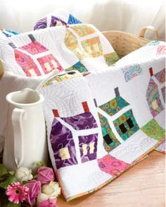 Free Pattern - The House That Kaffe Built Mini Quilt by Kathryn Patterson