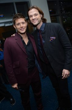 Jared Padalecki and Jensen Ackles at the People's Choice awards. Embedded image permalink