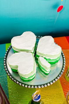 Ombre shamrock cake at a St. Patrick's Day Party #stpatricksday #ombrecake