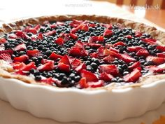 Čučoriedkový koláč s mascarpone - recept | Varecha.sk
