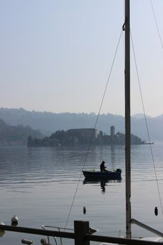 a quiet morning in the town of Pella on Lake Orta.