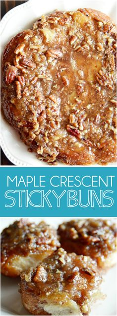 A recipe for quick and easy sticky buns using maple syrup, brown sugar, pecans…