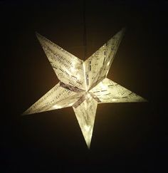 Paper star lantern DIY.  Instructions in finnish but plenty of pictures and free template!