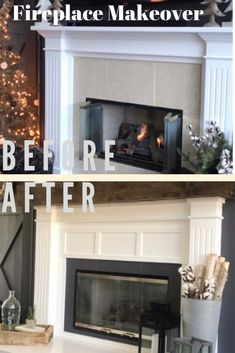 How to Build a Raised Fireplace Hearth – Repurpose Life, – farmhouse fireplace tile Fireplace Hearth Tiles, Tile Around Fireplace, Wood Fireplace Surrounds, Fireplace Beam, Build A Fireplace, Farmhouse Fireplace, Fireplace Remodel, Fireplace Mantels, Fireplace Cover Up