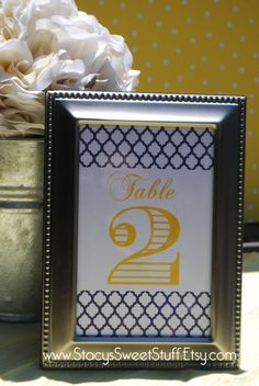 Wedding Reception Table Numbers Custom DIY by StacysSweetStuff, $7.00