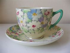 Crown Staffordshire Porcelain Tea Cup & Saucer