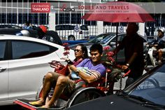 couple in #rickshaw #Risciò in the #Streets of #GeorgeTown #Penang Malaysia Exclusive #Travels and #Tours in South East Asia with Incoming Asia.  The best #Holidays in #Thailand #Myanmar #Malaysia #Singapore #Indonesia #Vietnam #Laos #Cambodia  #Viaggi e #tours esclusivi nel sud est asiatico con #incomingasia Le migliori #vacanze in #Thailandia #Myanmar #Indonesia #Malesia #Singapore #Laos #Cambogia #Vietnam http://www.facebook.com/pages/Incoming-Asia-Tour-Operator/210782032279488