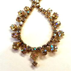 Vintage 50s JULIANA AURORA BOREALIS Paste Necklace Princess