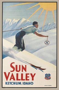 SUN VALLEY / KETCHUM, IDAHO. Circa 1940.
