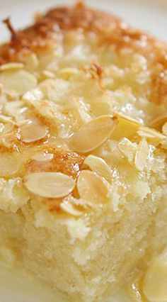 Coconut Almond Ricotta Cake ~ A magical cake that will make your mornings extra sweet. This cake has a crunchy coconut and almond top and sweet coconut milk glaze PERXFOOD.COM - SOUNDS SOO DELICIOUS! Sweet Recipes, Cake Recipes, Dessert Recipes, French Recipes, Italian Recipes, Food Cakes, Cupcake Cakes, Cupcakes, Just Desserts