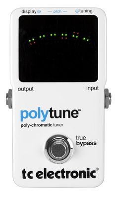 The TC Electronic PolyTune revolutionizes guitar tuners. Simply strum all the strings on your guitar or bass, and the TC PolyTune tunes all of them. Guitar Tuners, Archtop Guitar, Guitar Effects Pedals, Guitar Pedals, Bass Pedals, Guitar Amp, Cool Guitar, Renaissance Music, Recording Equipment