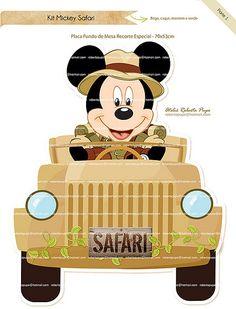 Placa Fundo de Mesa_Mickey Safari | por Ateliê Roberta Pupo