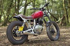 1993 SUZUKI GN250 - INGLORIOUS MOTORCYCLES Street Tracker #motorcycles #streettracker #motos | caferacerpasion.com