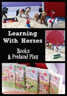 Learning With Horses: Books and Pretend Play, feature The Pony Scouts series by Catherine Hapka