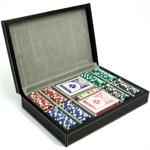 Bey Berk Playing Card & Heavyweight 200 Poker Chip Leather Set
