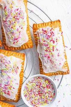 Strawberry Pop Tart, Pop Tarts, Homemade, Vegan, Cookies, Baking, Healthy, Breakfast, Easy