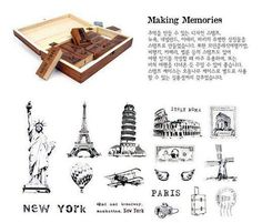 free shipping Wooden vintage Antique Stamps seel scenery Famous Places in the World making memories diary carved gift craft 15PC on AliExpress.com. $13.80
