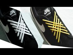 Tie Shoes, Your Shoes, Ways To Lace Shoes, Shoe Lacing Techniques, Diva Fashion, Mens Fashion, Funny Shoes, Creative Shoes, Tie Shoelaces