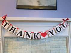 THANK YOU Sign Banner / Rustic Wedding by anyoccasionbanners