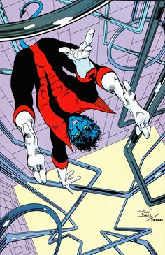 Nightcrawler ~ art by Alan Davis.   Have it!  (back cover of Excalibur #3 or 4, i think)