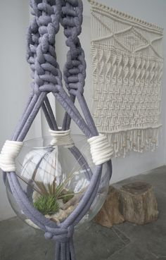 modern macrame - this is cooler than the jute one i made in 4th grade. (it was the 70's, don't judge)