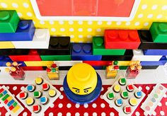 Lego, lego, lego and lots of other party ideas. http://karaspartyideas.blogspot.com/search/label/lego%20birthday%20party