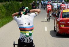 2012: Mark Cavendish on domestique duty for his Sky teammates.